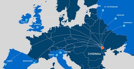Карта полетов авиакомпании Fly One